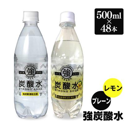 強炭酸水 500ml プレーン レモン 炭酸水 スパークリング 24本 2ケース 楽天の激安最 元気はつらつ淑女の健康 美容法