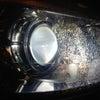メルセデス ベンツ ヘッドライト 皹 クランク リペアの画像