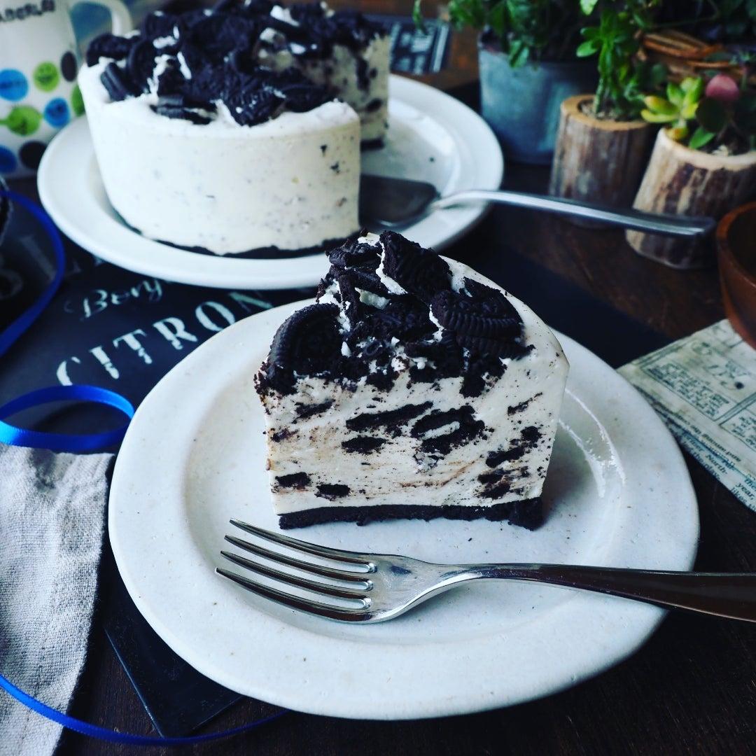 オレオ チーズ ケーキ 生 クリーム なし