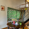 コテージ風 海外花柄プリントの色違いカーテンの画像