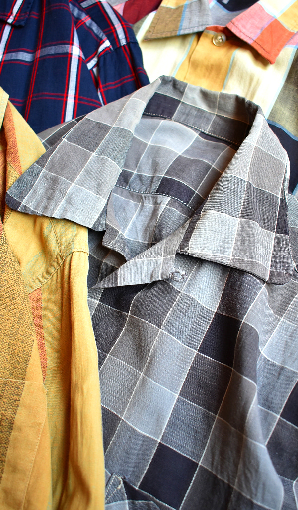 ビンテージ60s開襟ボックスシャツ古着屋カチカチ