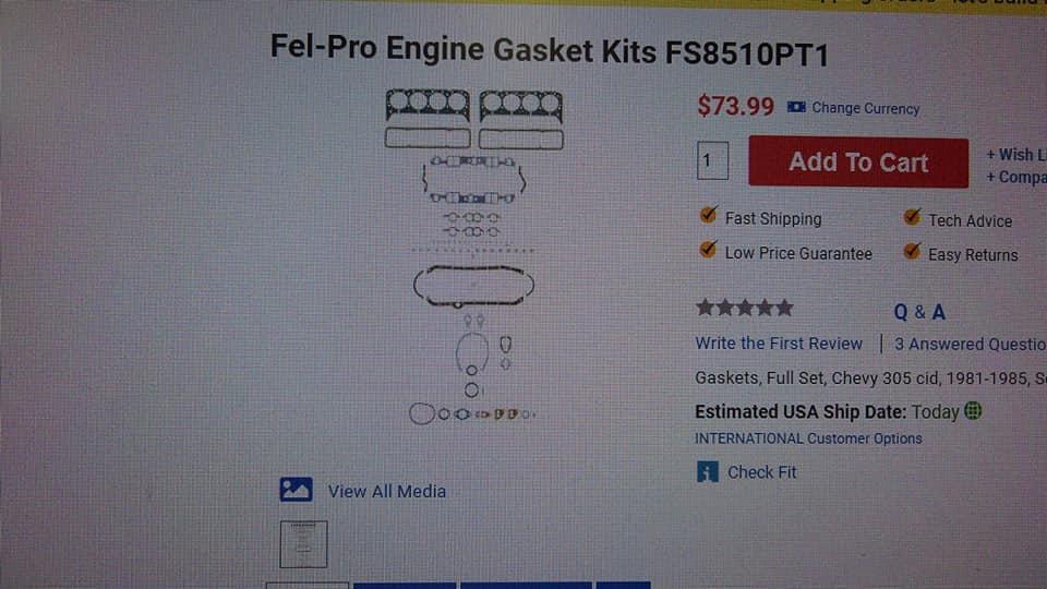 Fel-Pro Fs8510Pt1 Full Gasket Set