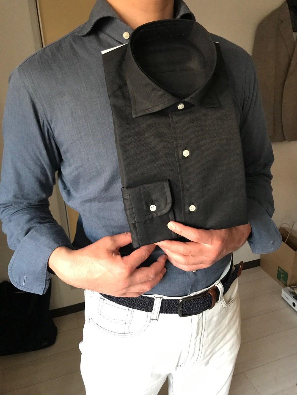スタイリッシュなイタリアのサングラスとオーダーシャツと。