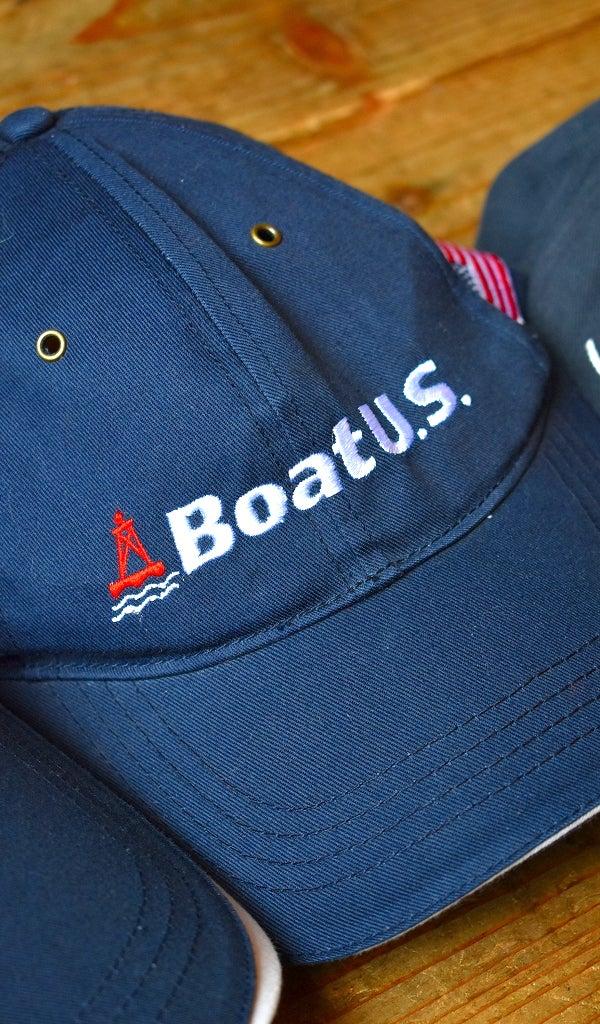 紺色ベースボールキャップ帽子@古着屋カチカチ