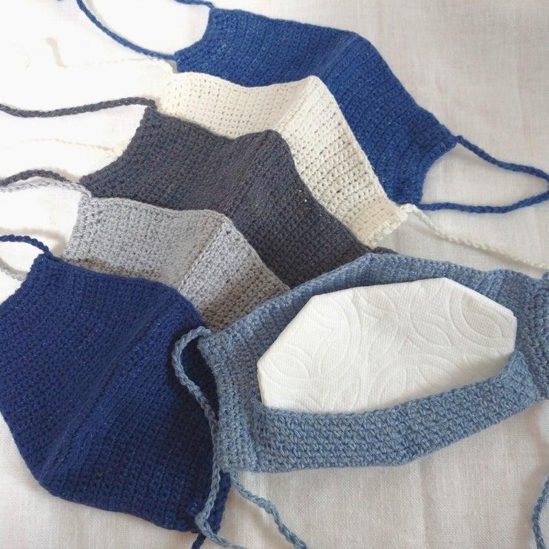 編み 図 かぎ マスク 編み
