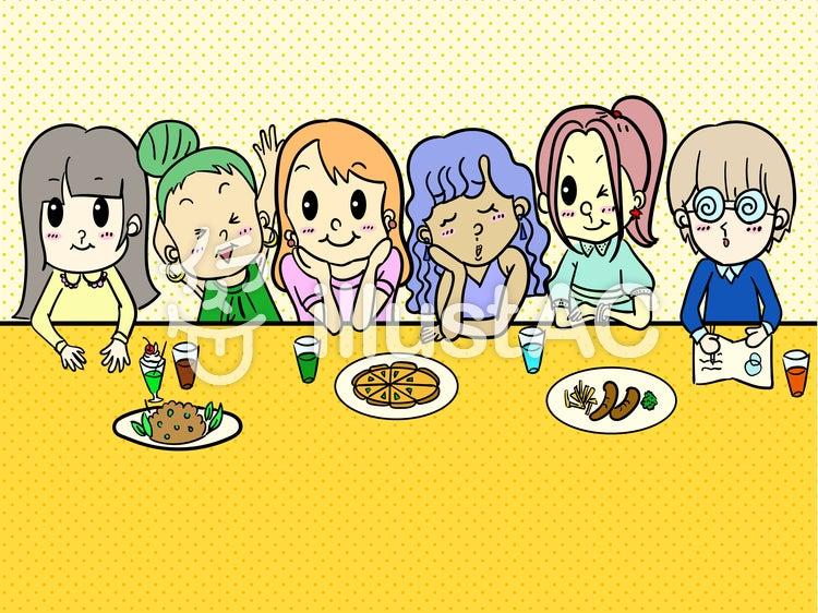 無料ダウンロード イラスト 6人女子イラスト しょこちゅんのひとり言