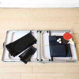 画像 アウトドア用のテーブルがミニ卓球台に早変わり!子供たちの運動不足解消に役立ちます!パパも一緒に… の記事より 3つ目