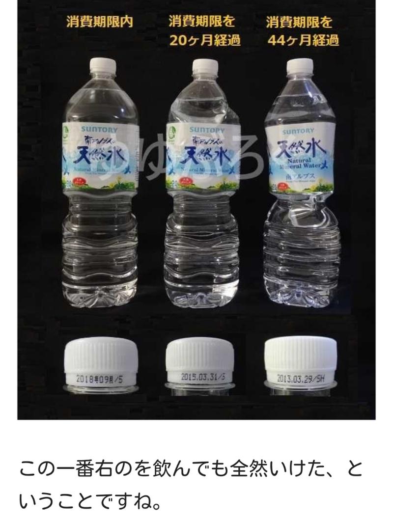 期限 ペット ボトル 水 消費