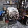 鹿皮の仕込み作業の画像