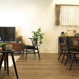 画像 床の色と少し違う色の家具がいい?!グレーがかったブラウン色の床にウォールナット材の家具を合わせる の記事より 1つ目