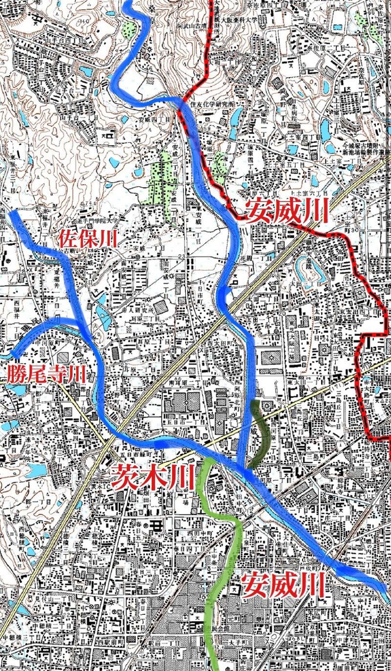 茨木川と安威川の歴史 [リメイク版] | レールスター@大阪の人のブログ