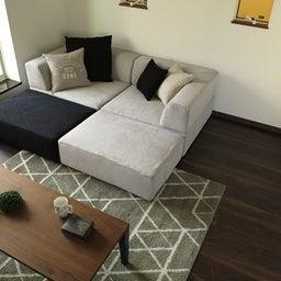 画像 家具の配置アドバイス!映画鑑賞が好きな方へ家具の配置提案!「島型」ソファをおすすめしました。 の記事より 21つ目