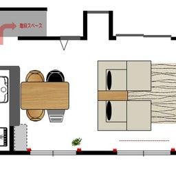 画像 家具の配置アドバイス!映画鑑賞が好きな方へ家具の配置提案!「島型」ソファをおすすめしました。 の記事より 9つ目