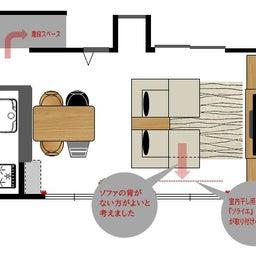 画像 家具の配置アドバイス!映画鑑賞が好きな方へ家具の配置提案!「島型」ソファをおすすめしました。 の記事より 13つ目