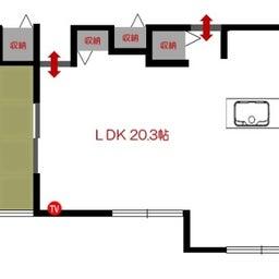 画像 斬新!?リビング空間とダイニング空間を入れ替える家具の配置術!こんな家具の配置はどうですか? の記事より 2つ目