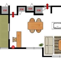 画像 斬新!?リビング空間とダイニング空間を入れ替える家具の配置術!こんな家具の配置はどうですか? の記事より 6つ目