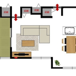 画像 斬新!?リビング空間とダイニング空間を入れ替える家具の配置術!こんな家具の配置はどうですか? の記事より 4つ目