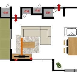 画像 斬新!?リビング空間とダイニング空間を入れ替える家具の配置術!こんな家具の配置はどうですか? の記事より 5つ目