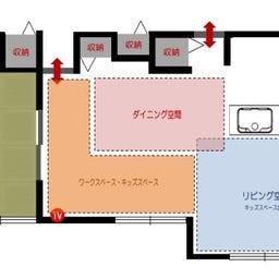 画像 斬新!?リビング空間とダイニング空間を入れ替える家具の配置術!こんな家具の配置はどうですか? の記事より 7つ目