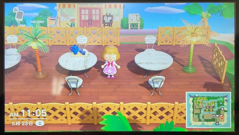 カフェ な パラソル 森 どうぶつ テーブル の