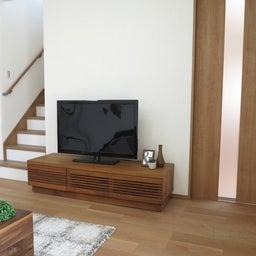 画像 リビングへ入る引戸の開き方で家具の配置が異なってきます。ソファ前が広くなり、ソファも大きくできる の記事より 9つ目