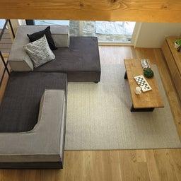 画像 家具の配置アドバイス!お子さん4人と両親、6人で寛ぐコンパクトリビング!壁もソファ?畳もソファ? の記事より 10つ目