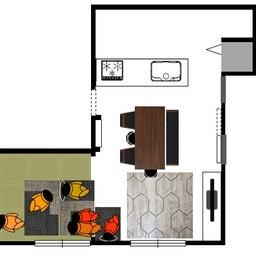 画像 家具の配置アドバイス!お子さん4人と両親、6人で寛ぐコンパクトリビング!壁もソファ?畳もソファ? の記事より 5つ目