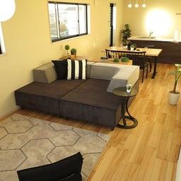 画像 家具の配置アドバイス!お子さん4人と両親、6人で寛ぐコンパクトリビング!壁もソファ?畳もソファ? の記事より 16つ目