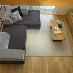 画像 家具の配置アドバイス!お子さん4人と両親、6人で寛ぐコンパクトリビング!壁もソファ?畳もソファ? の記事より 9つ目