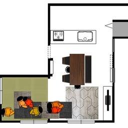 画像 家具の配置アドバイス!お子さん4人と両親、6人で寛ぐコンパクトリビング!壁もソファ?畳もソファ? の記事より 13つ目