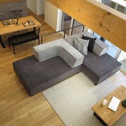 画像 家具の配置アドバイス!お子さん4人と両親、6人で寛ぐコンパクトリビング!壁もソファ?畳もソファ? の記事より 11つ目