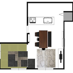 画像 家具の配置アドバイス!お子さん4人と両親、6人で寛ぐコンパクトリビング!壁もソファ?畳もソファ? の記事より 2つ目