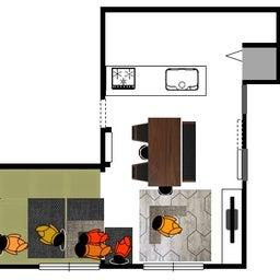 画像 家具の配置アドバイス!お子さん4人と両親、6人で寛ぐコンパクトリビング!壁もソファ?畳もソファ? の記事より 15つ目