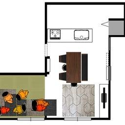 画像 家具の配置アドバイス!お子さん4人と両親、6人で寛ぐコンパクトリビング!壁もソファ?畳もソファ? の記事より 12つ目