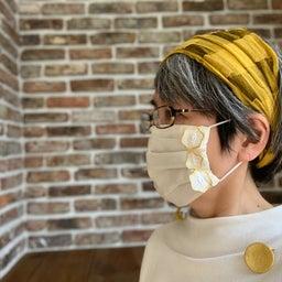 画像 金箔、プラチナ箔レースのおしゃれマスク、銀の糸と医化学的繊維使用生地 の記事より 1つ目