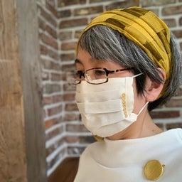 画像 金箔、プラチナ箔レースのおしゃれマスク、銀の糸と医化学的繊維使用生地 の記事より 2つ目