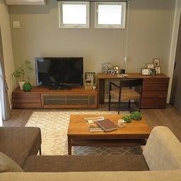 画像 広い壁面を活かした総幅3m以上の収納家具を提案!TVボードとデスクを同じデザインで提案できます の記事より 1つ目