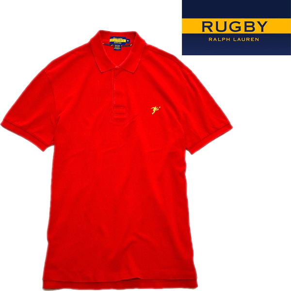 ラルフRUGBYラグビー半袖ポロシャツ古着屋カチカチ