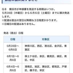 画像 横浜市も含む全国20政令市の特別定額給付金(10万円)の状況について(5/28時点) の記事より 1つ目