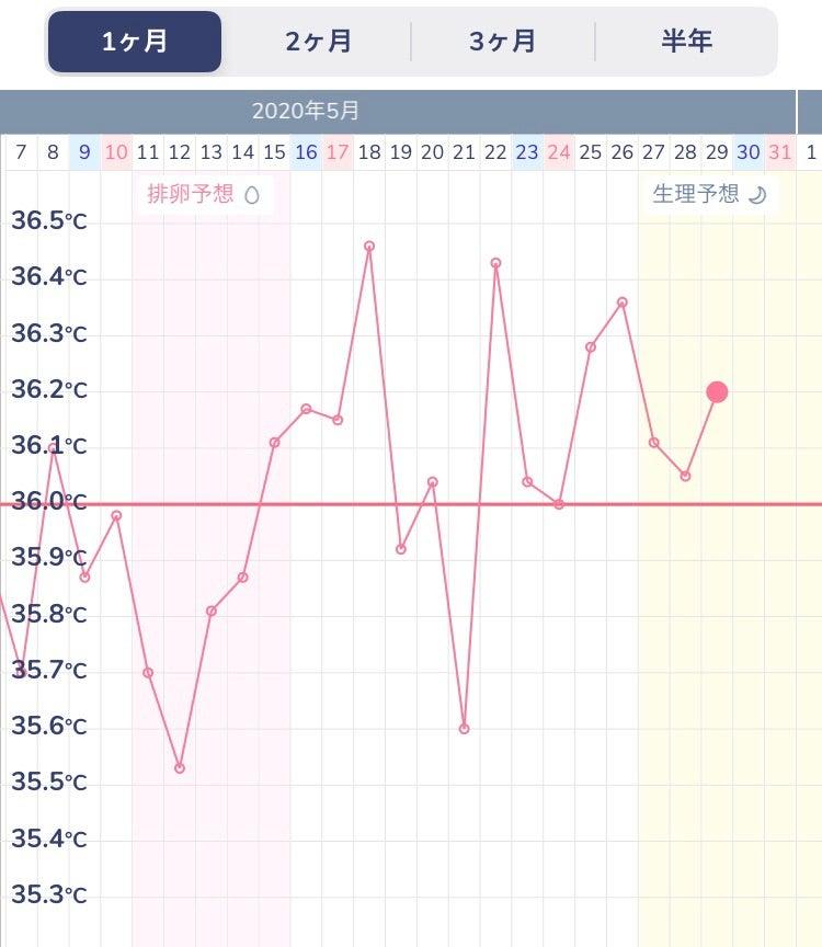 生理 中 高温 期