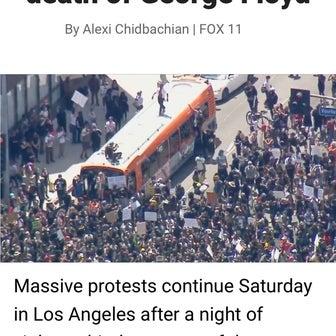 LA(ロサンゼルス市)/夜間・外出禁止令が出ました・・・