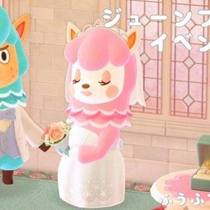 【あつ森】ジューンブライドイベントでリサとカイゾー登場!の画像