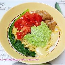 画像 江戸菜(小松菜)のジェノベーゼパスタ トマト&ソーセージ☆休日ランチ の記事より 1つ目
