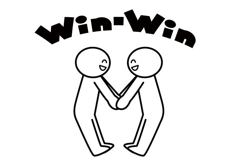 Win-Winのイラスト