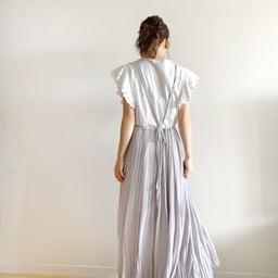 画像 調節できるプリーツスカート、妊婦さんでも着られるワンピ♡ の記事より 3つ目