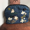 どくだみの花のアッピリケバッグ