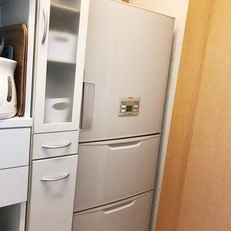 冷蔵庫が旅立つ前夜の旅支度。