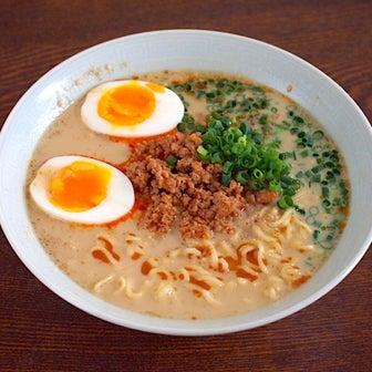 40円の袋麺をアレンジ「担々麺」