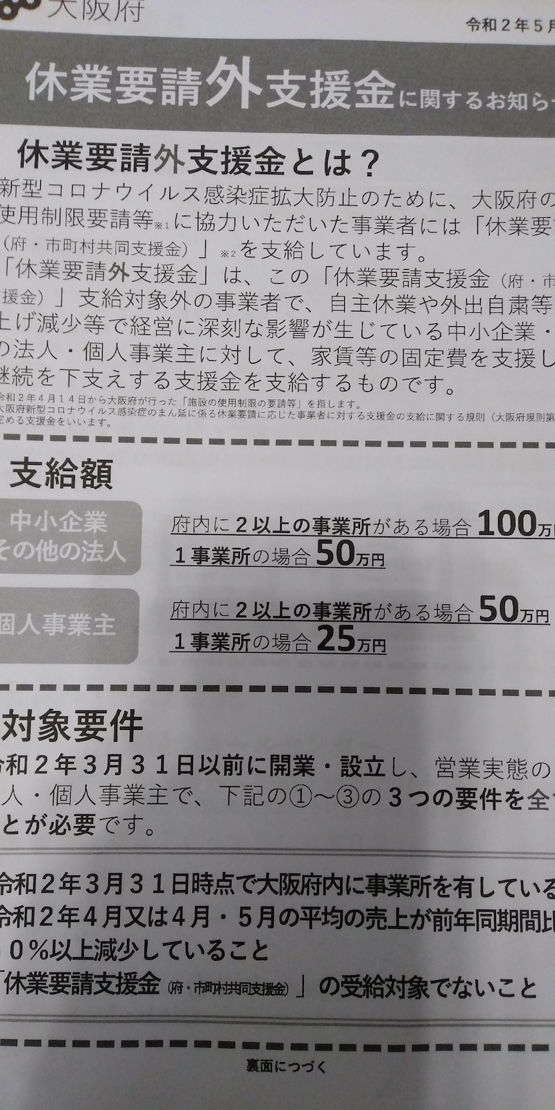 要請 外 休業 時短要請対象外の遊興施設も新型コロナ対策を徹底 大阪市