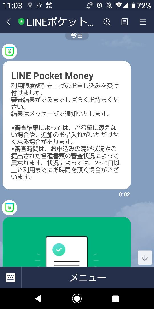 審査 マネー line ポケット